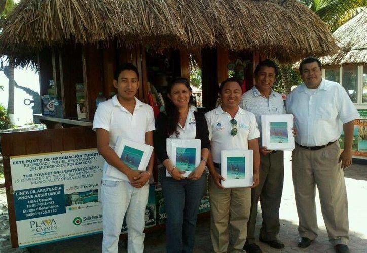El material promocional se distribuirá en módulos de información turística. (Cortesía/SIPSE)