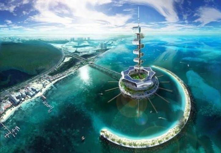 Grand Cancún Eco Island, megaproyecto que se realizará en Quintana Roo. (Agencias)
