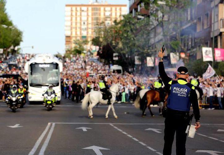 Madrid ha preparado un importante despliegue de seguridad en torno a la final de la Copa Libertadores. (Atlas)