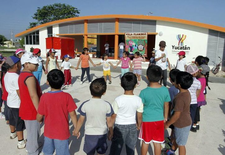 Niños disfrutarán a partir del 20 de julio de las actividades educativas, deportivas y culturales del programa Bienestar en Vacaciones, que en parte se realizará en el Paseo Verde. (SIPSE)