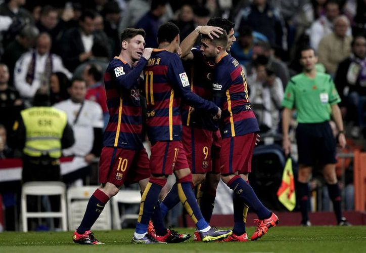 El Barcelona viajó a Alemania para enfrentar este miércoles al Bayern Leverkusen en el estadio BayArena, en el último encuentro de la fase de grupos de la Champions League 2015-2016.- (Notimex)