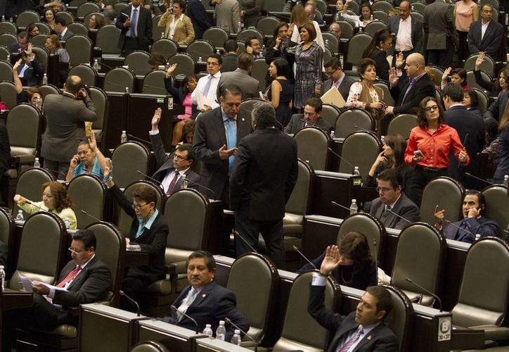 Aspecto de la sesión ordinaria en la Cámara de Diputados. (Archivo/Notimex)