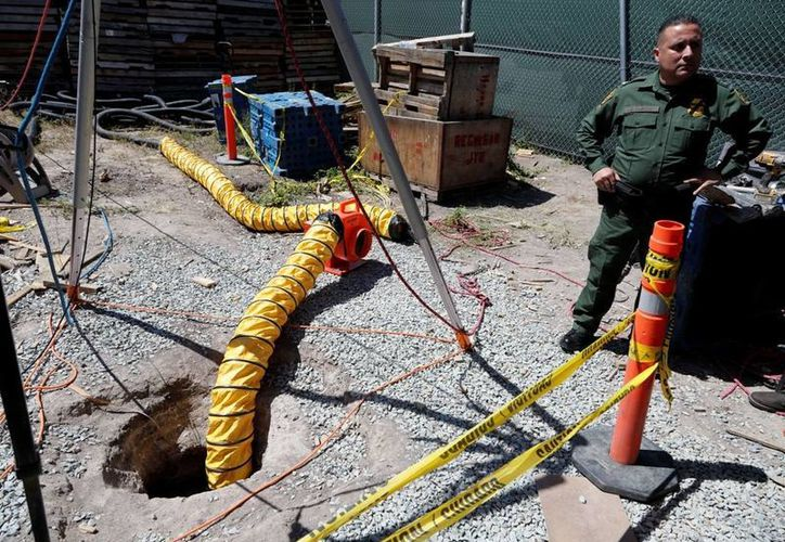 Unos 450 metros del narcotúnel están en territorio estadounidense. (AP)