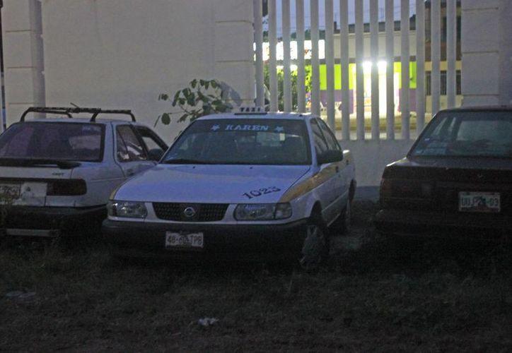 El taxi, con número 1023,estuvo desaparecido más de media hora. (Redacción/SIPSE)