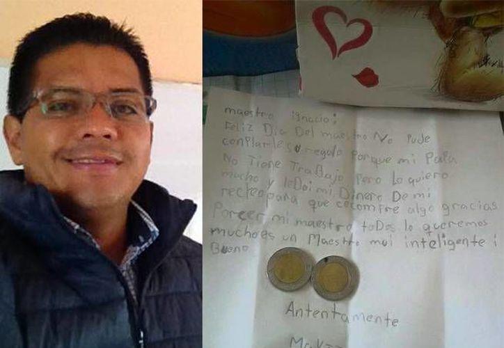 Una niña con un padre sin trabajo le dio un gran regalo a su maestro en el Día del Maestro. (excelsior.com)
