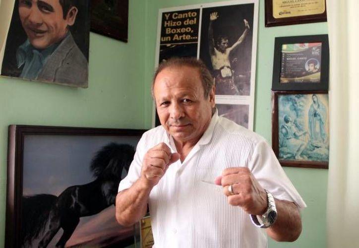 Miguel Canto es uno de los boxeadores yucatecos que han conquistado el campeonato mundial.(Archivo/SIPSE)