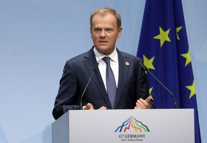 El presidente del Consejo Europeo, Donald Tusk, invitó al G7 a tomar acciones contra Rusia por las afectaciones hacia Ucrania. (Foto: AP)
