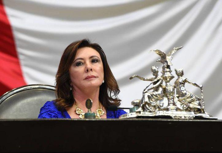 La diputada Beatriz Zavala destaca que con el Sistema Nacional Anticorrupción habrá fiscalización en tiempo real. (SIPSE)