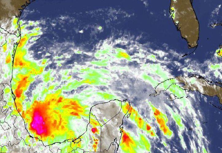 La tormenta se ha estacionado en el Golfo de México. (Conagua Yucatán)