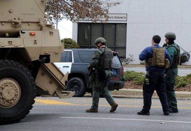 La policía del campus y las autoridades locales ya estaban trabajando en la zona. (Gentileza Ben Flanagan/AL.com)