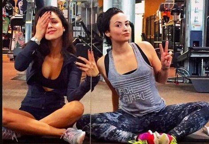 Demi Lovato y Eiza González después de ejercitarse juntas en un gimnasio. (Instagram/Demi Lovato)