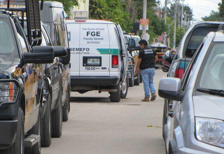 Los cuerpos de la pareja de jóvenes fueron encontrados en una bodega de zapatos en Ticul. (SIPSE)