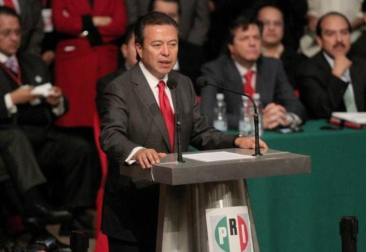 Camacho Quiroz preside la XXI Asamblea Nacional Ordinaria del PRI. (Notimex)