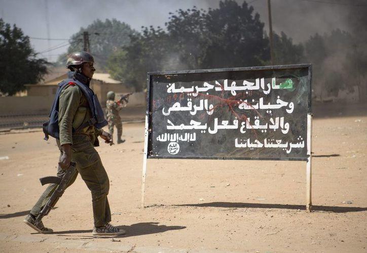Soldados del ejército maliense en Gao, Mali. (EFE)