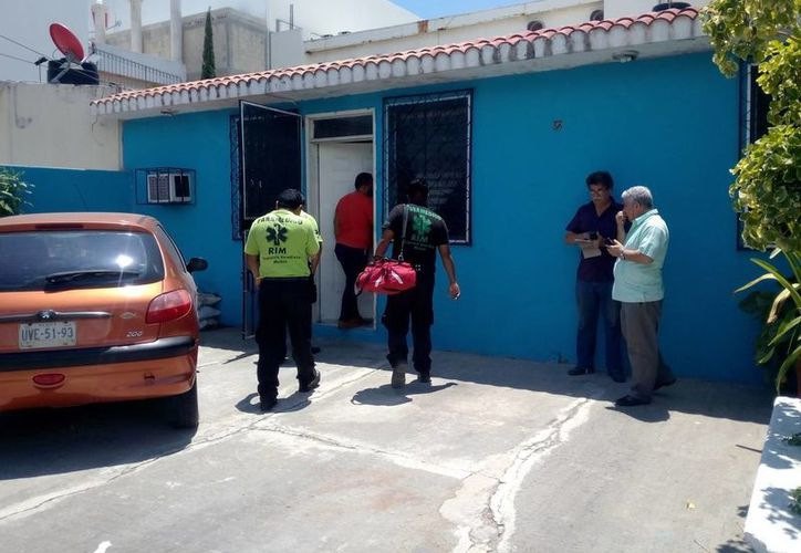 Una vecina del lugar les dio resguardo mientras llegaban las autoridades correspondientes al lugar. (Eric Galindo/SIPSE)