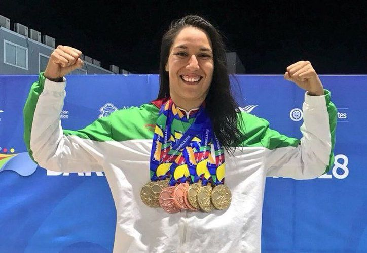 Liliana Ibáñez se convirtió en la nadadora mexicana más rápida en lo que va de los JCC 2018. (Vanguardia MX)