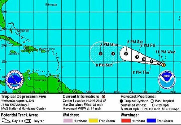 La depresión se intensificará a tormenta tropical. (Archivo/SIPSE)