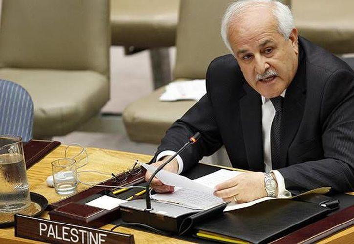 El embajador palestino en la ONU, Riyad Mansur, acusó a Israel de tráfico de órganos con los palestinos asesinados a manos de las fuerzas israelíes. (Reuters)
