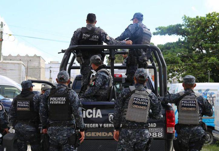 Elementos de la Gendarmería Nacional reforzarán la seguridad en Playa del Carmen. (Adrián Barreto/SIPSE)