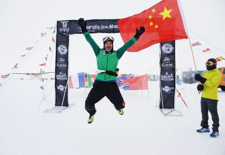 El chino Chen Penbin fue pescador desde la infancia, pero se inició en la carrera a los 22 años. (icemarathon.com)