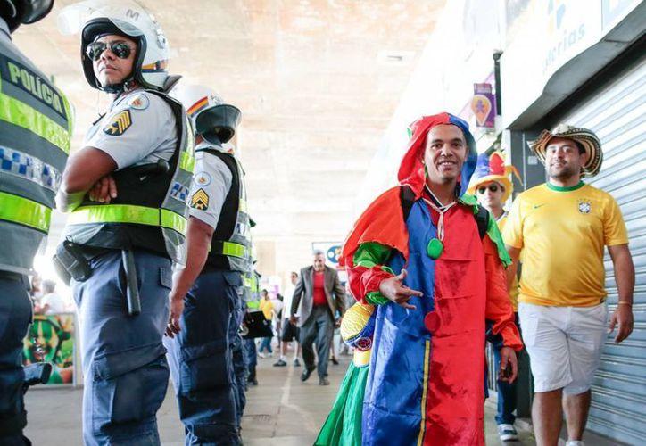 La seguridad en Brasil se ha incrementado conforma avanza el Mundial en 12 ciudades sede. (EFE)