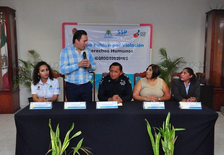 La Secretaría de Seguridad Pública ofreció una disculpa pública a una mujer que fue detenida arbitrariamente en 2015. (Joel Zamora/SIPSE)