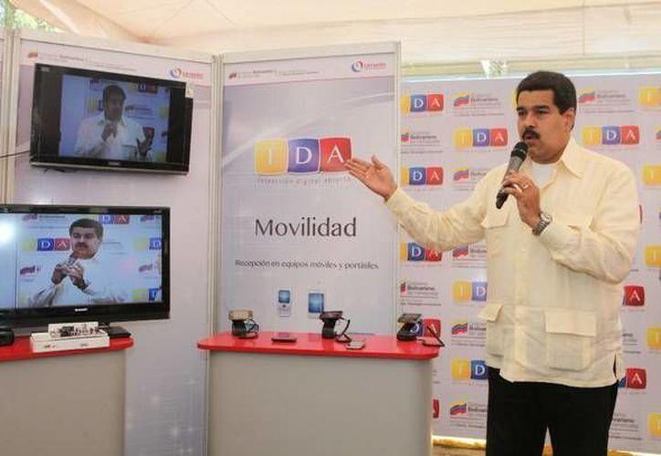 Maduro indicó que los canales privados Venevisión, Meridiano y Televén se unieron al proyecto piloto de la televisión digital abierta. (vtv.gob.ve)