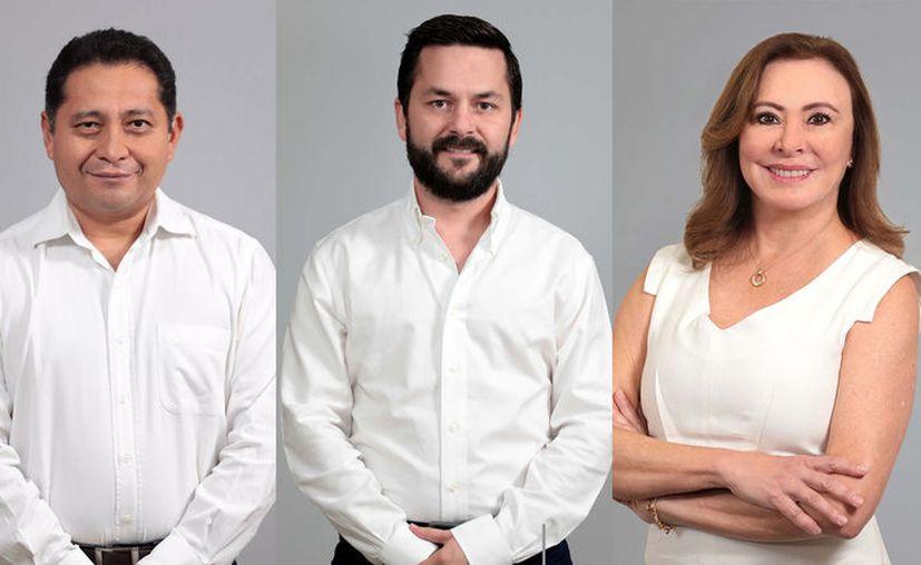 Édgar Ramírez Pech, Álvaro Juanes Laviada y María Beatriz Zavala Peniche.