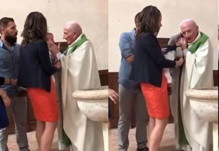 Los padres del bebé denunciaron al sacerdote por su acción. (La Vanguardia)