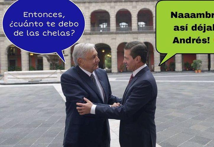 Las redes sociales sacaron sus mejores memes de la reunión entre AMLO y Peña Nieto. (Milenio)