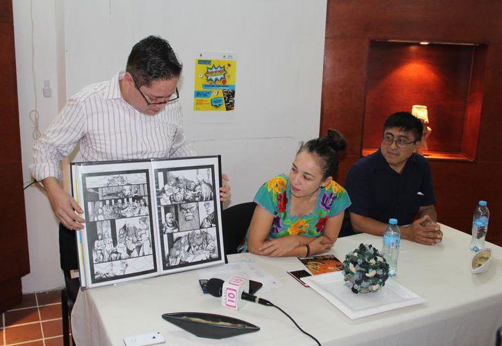 Daniel Valadez Hernández, artista plástico e ilustrador profesional de cómics Foto:(Joel Zamora/SIPSE)