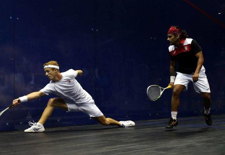 Eric Gálvez y César Salazar perdieron la final, pero ganaron la medalla de plata en squash varonil para México en Juegos Panamericanos. (Foto: AP)