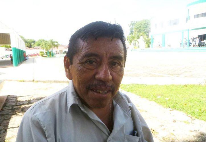 "Pedro Cupul Chi, presidente de la cooperativa turística ""Flor de Nuni"". (Raúl Balam/SIPSE)"