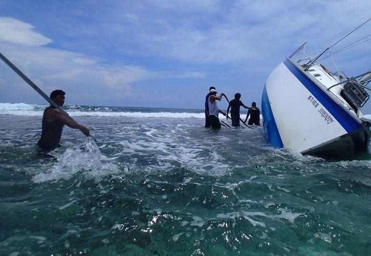 Serenity daña 350 metros cuadrados más de arrecifes en Xcalak. (Cortesía/SIPSE)