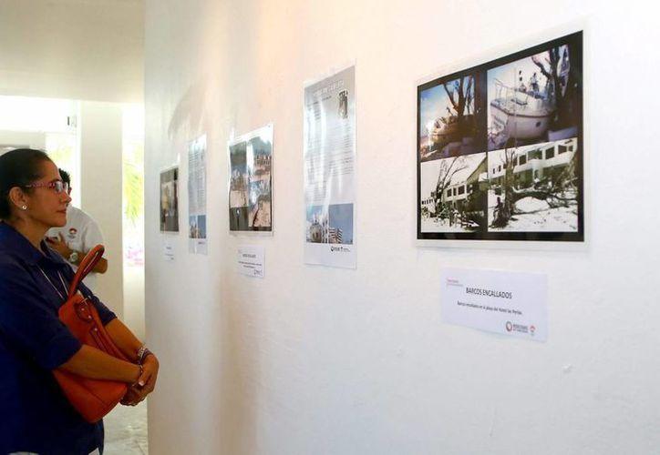 La exposición cuenta con 165 fotografías que relatan el paso del huracán por Cancún. (Redacción/SIPSE)