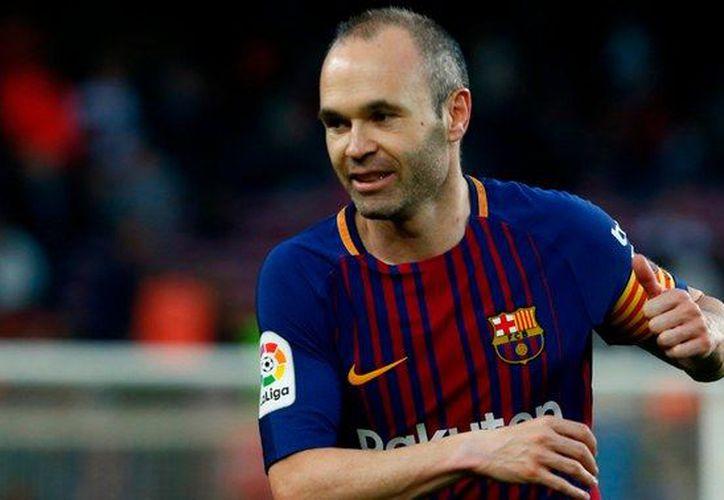 El pasado domingo el Barça homenajeó por todo lo alto la figura de Iniesta. (AFP)
