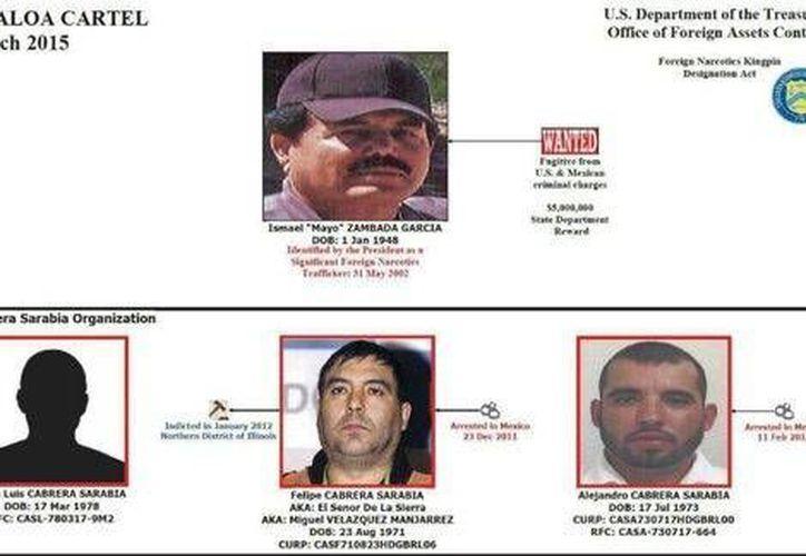 Desde 1996, los hermanos Cabrera Sarabia han desempeñado un importante papel en la organización de narcotráfico de Ismael Zambada García. (Departamento del Tesoro)