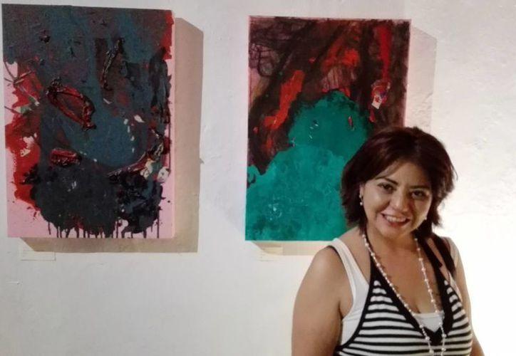 La colección de seis cuadros de la artista podrá ser visita de lunes a sábado de 9 a 14 horas en la galería de la Ciudad.(Milenio Novedades)
