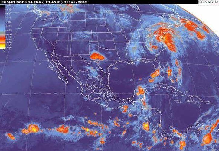 Soplarán vientos variables de 15 a 30 km/h con rachas de 45 km/h al momento de las lluvias. (smn.cna.gob.mx)