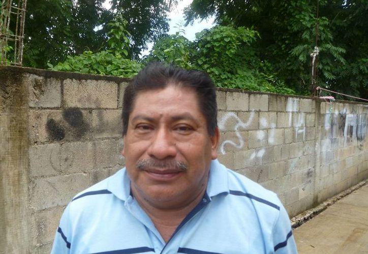 Secundino Cab Uicab ofreció una conferencia de prensa. (Raúl Balam/SIPSE)