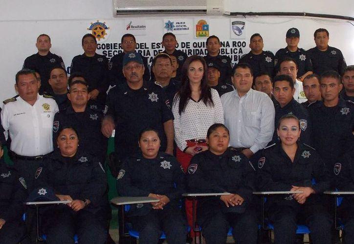 La primera generación del SPA corresponde a futuros integrantes de la Policía Municipal Preventiva (PMP). (Ernesto Neveu/SIPSE)