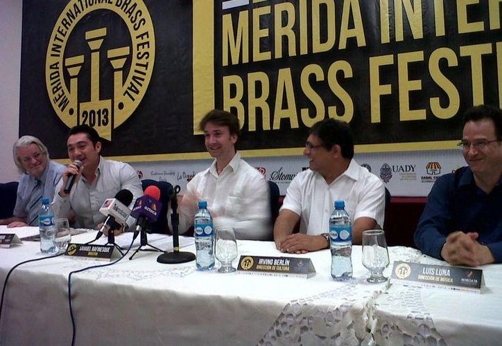 """Presentación el """"Mérida Internacional Brass Festival"""". (Milenio Novedades)"""