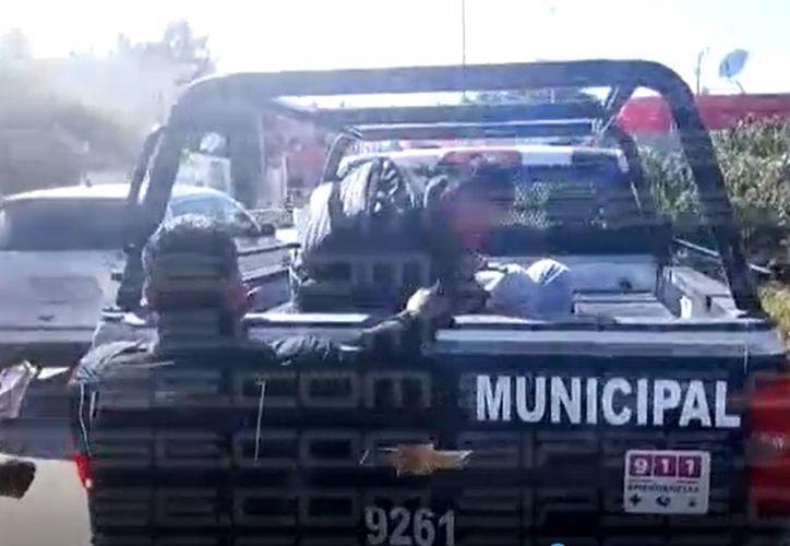 Las autoridades acordonaron el área. (Foto: Captura del video)