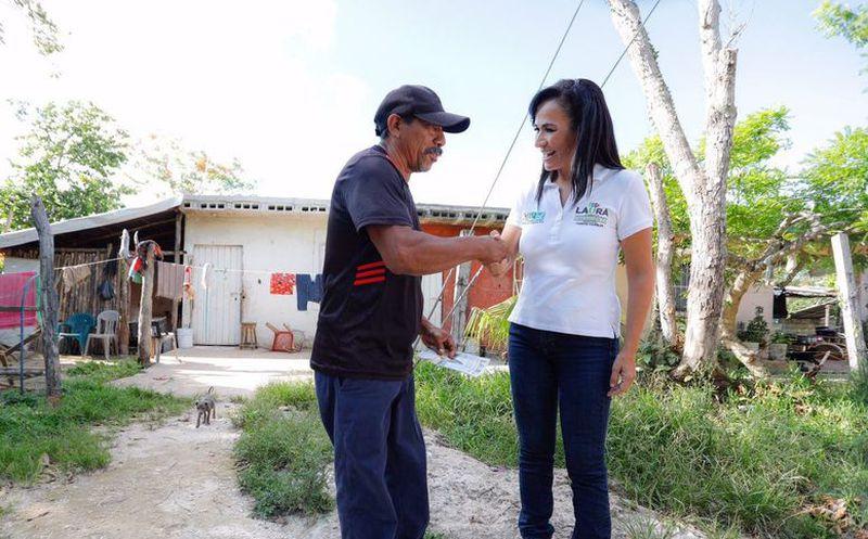 Laura Fernández Piña, candidata de la coalición Por Quintana Roo (PRI-PVEM-Panal) a la presidencia municipal, impulsará los deportes con más espacios. (SIPSE)