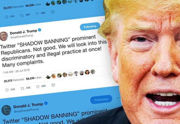 Trump ha criticado en varias ocasiones que Twitter ha limitado el alcance de sus tuits. (The Daily Beast)