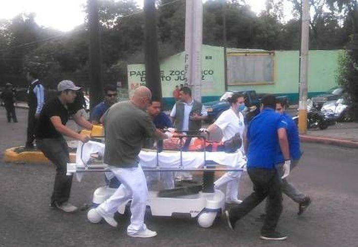 El traslado del hijo de Fausto Vallejo en Michoacán. (Quadratín)