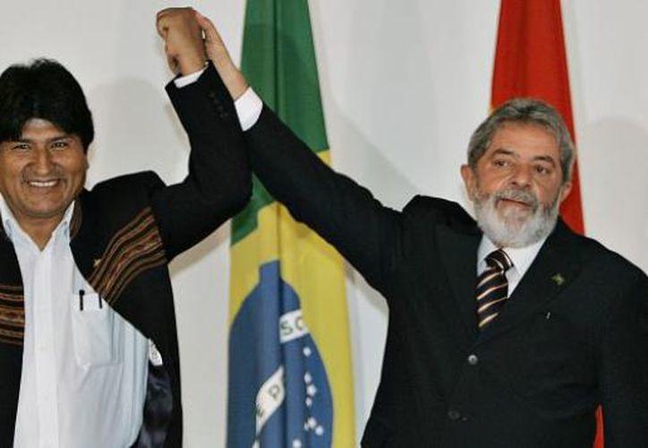 El presidente de Bolivia, Evo Morales, expresó hoy su solidaridad con el exmandatario de Brasil, Luiz Inacio Lula da Silva. (Contexto/Internet)