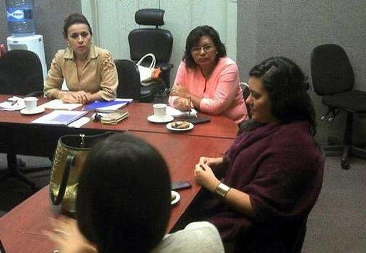 En la foto integrantes de la agrupación Amees que trabaja con microcréditos para las mujeres. (Milenio Novedades)