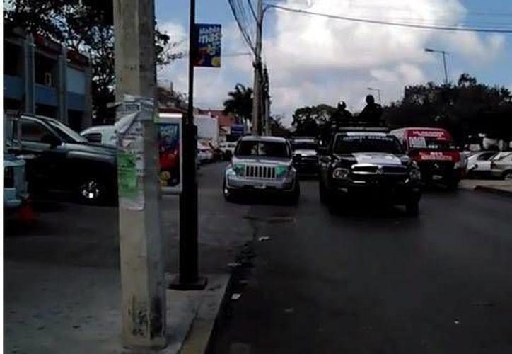 Hubo una movilización policíaca por la zona. (Sergio Orozco/SIPSE)