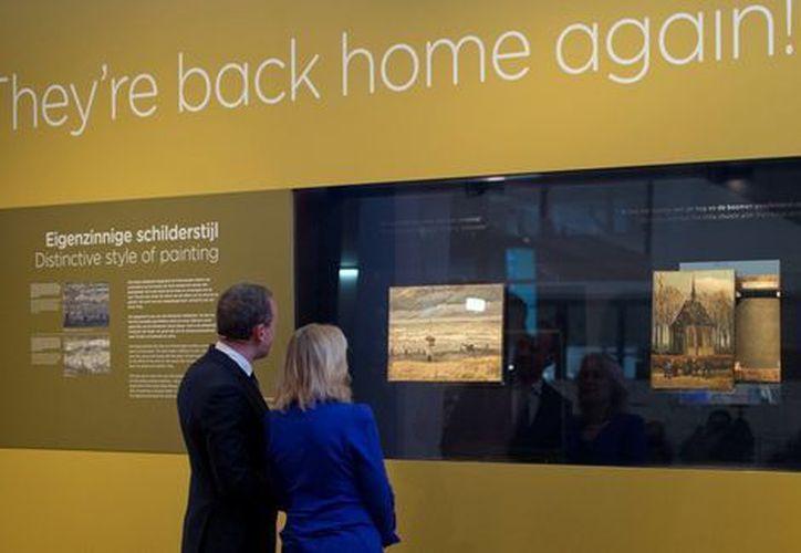 Las obras fueron robadas en el 2002 y encontradas el año pasado en Italia. (AP)